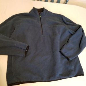 Timberland Men's Blue Quarter Zip Fleece Pullover